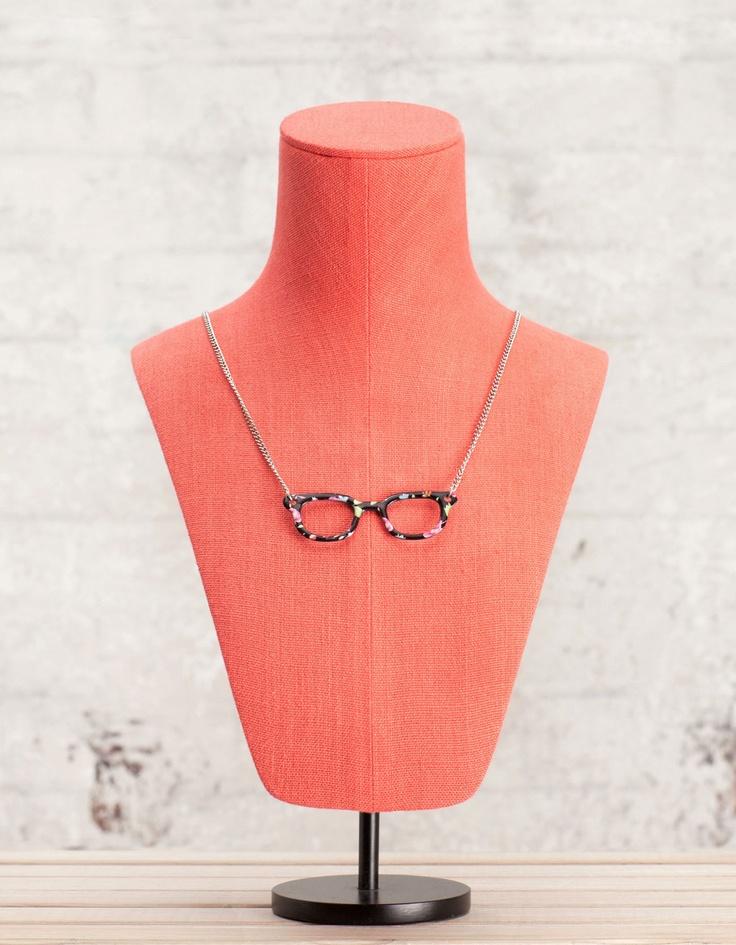 Collar gafas dibujo flores