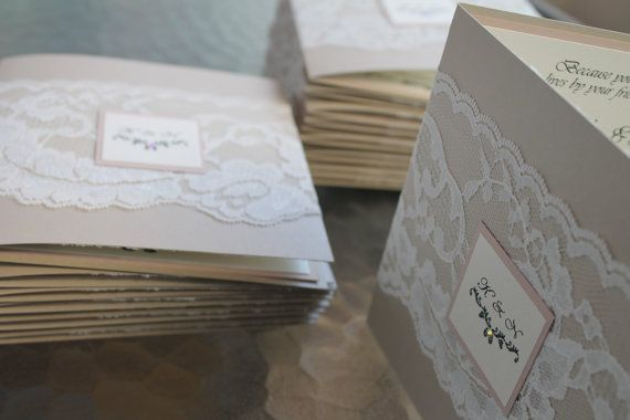 Lace Wedding Invitation Suite The vintage lace on by inkandlove, $5.50