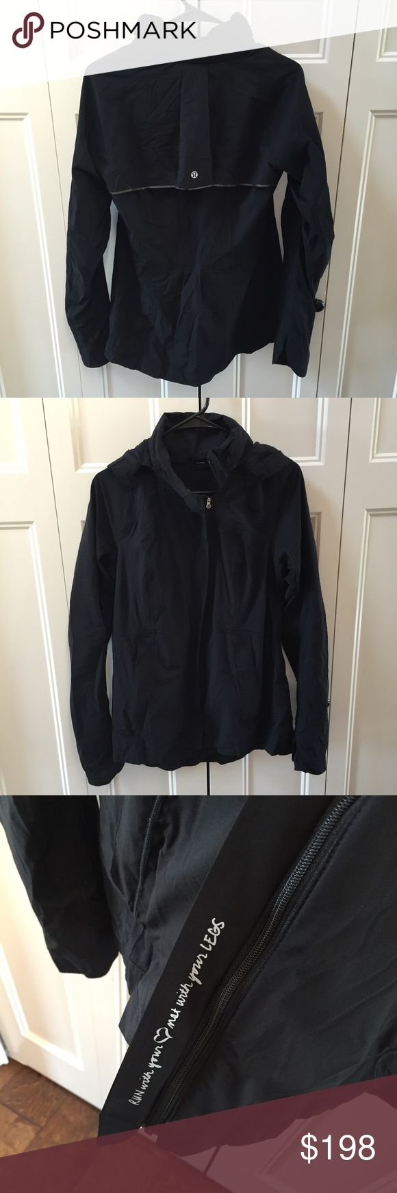 Lululemon Run in the Rain Jacket Lululemon Run in the Rain Jacket. Black. Very excellent used condition ! Size 8. No trades. If you like something, please use the offer button, I may not respond to offers in comments. I play by Posh's rules. Bundle for UP TO a 25% discount as well as saving on your shipping! Play nice and happy shopping! lululemon athletica Jackets & Coats