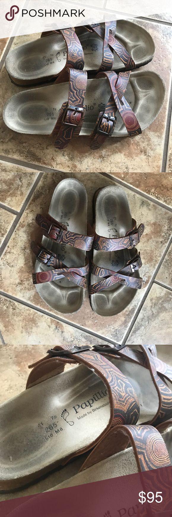 Birkenstock Papillio Sandals Birkenstock Papillio Sandals  gently used women's size 10 men's 9 Birkenstock Shoes Sandals