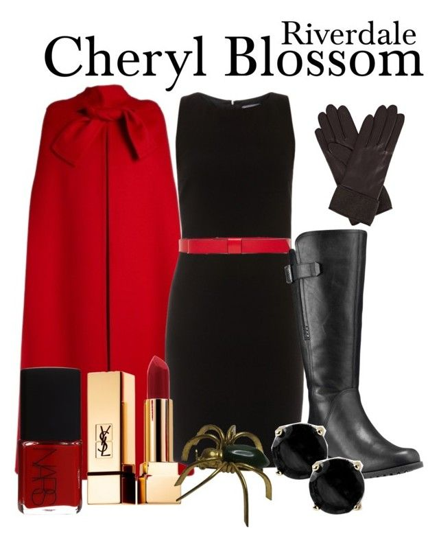 Cheryl Blossom RIVERDALE by sparkle1277 on Polyvore featuring polyvore, fashion, style, ELLIOTT LAUREN, Valentino, Timberland, Kate Spade, Gizelle Renee, Marni, Yves Saint Laurent, NARS Cosmetics and clothing