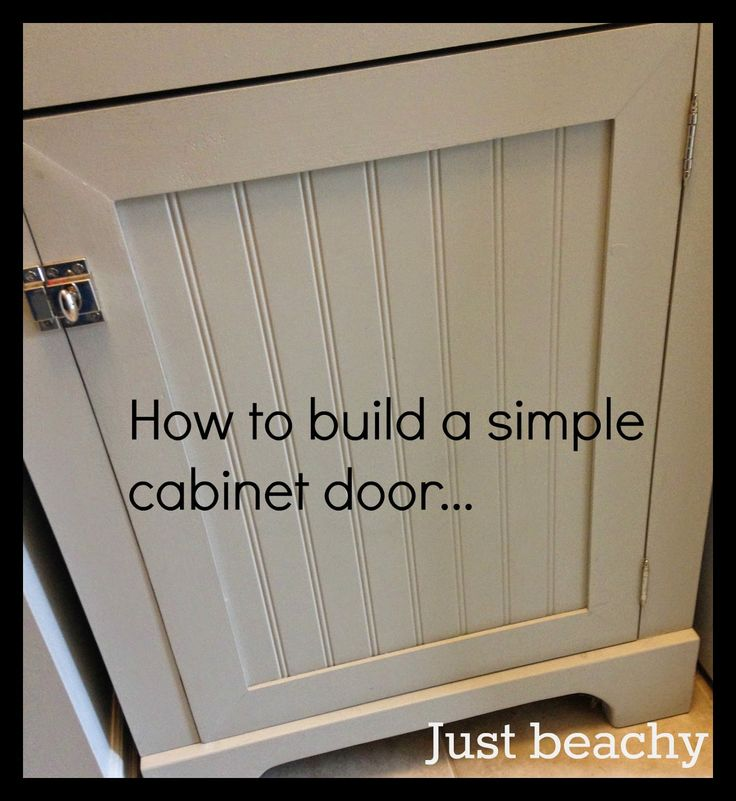 DIY Tutorial: How to Build Simple Shaker-Style Cabinet Doors