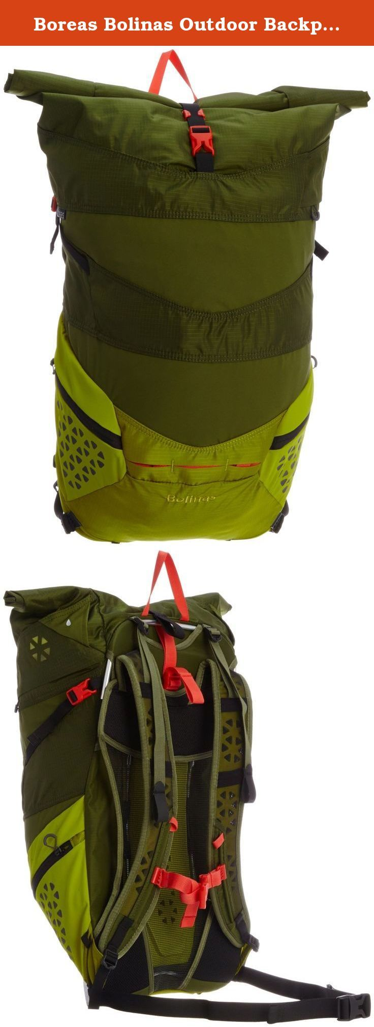 Boreas Bolinas Outdoor Backpacks, Truckee Green, One Size. There's nothing else like it: an incredibly comfortable, stylish and bike-friendly roll-top that converts to a load-hauling daypack. Perfect for the daily commuter or the weekend adventurer. Fabrics: 210D nylon rip stop with UTS impregnated silicone coating. Suspension: Our variable suspension, aka Super-Tramp (patent pending), lets users adjust their pack suspension with the tug of a strap. Tighten the strap and it's a trampoline...