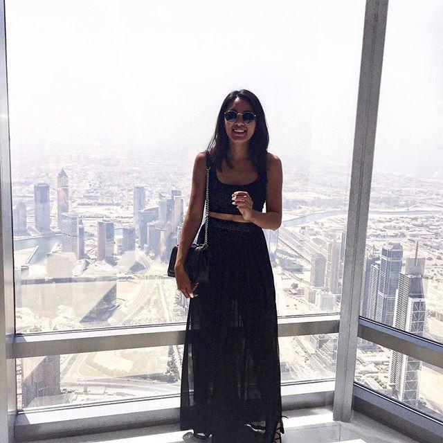 random fact: You can see the Burj Khalifa from 95km away 😋 #dubai #burjkhalifa #travel