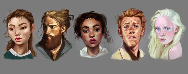 Portrait studies, Corina Stan on ArtStation at https://www.artstation.com/artwork/DV5Gn