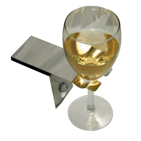 Wine glass holder for bathtub   Polished steel  suction cup holder   Bosign. 17 Best ideas about Bathtub Wine Glass Holder on Pinterest
