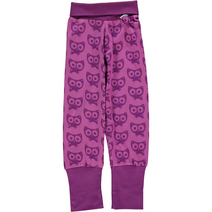 Purple Cat Ribbed Pants Monochromatic Kids Clothes by Maxomorra. Organic Cotton Kids Clothes. Offered in Canada by Modern Rascals.