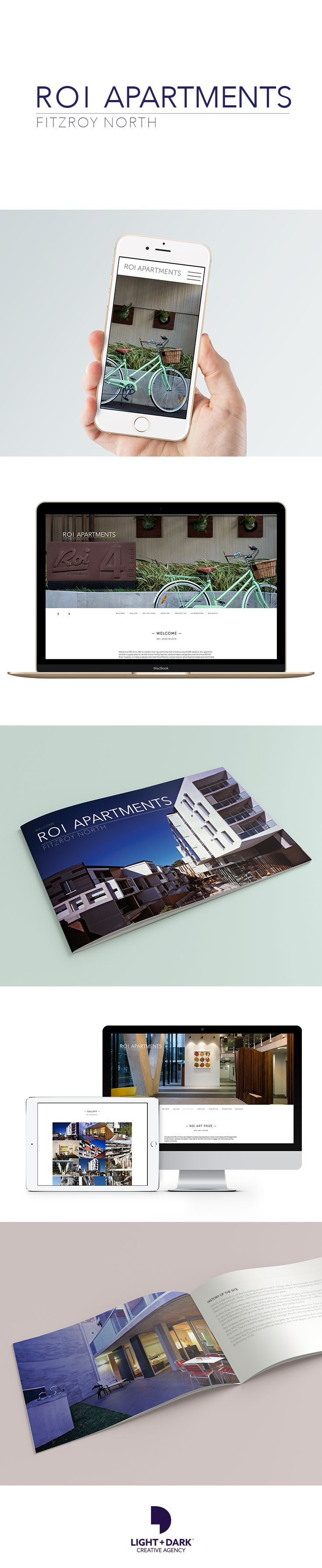 Booklet & Website Design: ROI Apartments asked us to come up with an informative and stylish, coffee table style booklet.  This booklet showcases the buildings apartments with amazing photography from construction phase to completion. This year, they came back to us again to design a mobile friendly website with information about the apartments, the ROI Art Prize and show-casing more stunning photography (with our buddy Robby, from Robby Edge Photography). www.roiapartments.com.au