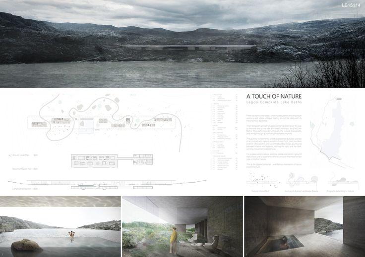 Concurso Internacional Site Lake Baths, Serra da Estrela, Portugal  2do Premio: Adrian Yau, Kenneth Wong, Cyrus Wong, Jin Chen (Japón)