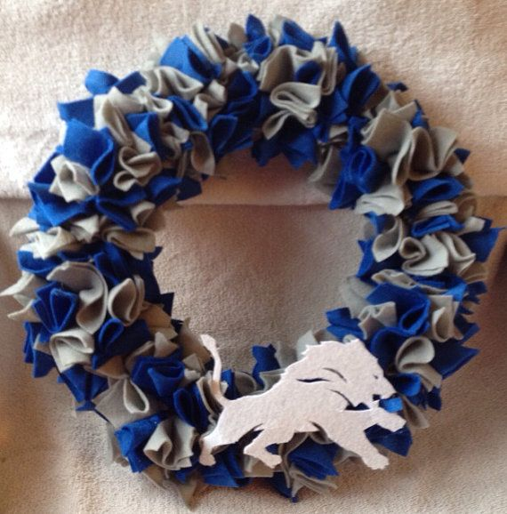 Detroit Lions Wreath on Etsy, $20.00