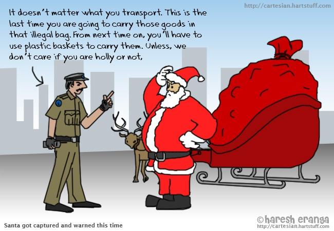 Santa got captured!