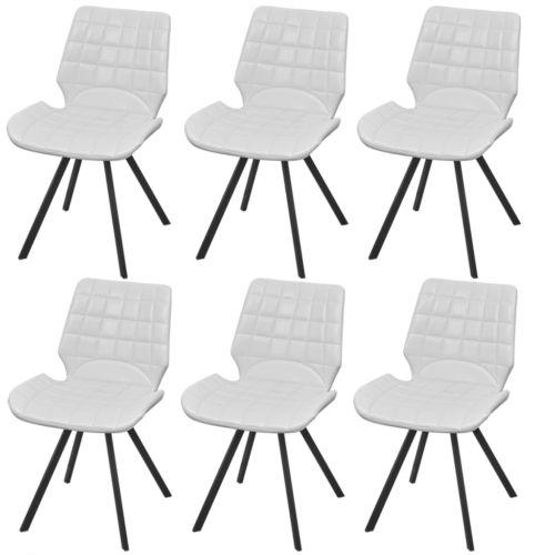 6x Küchenstuhl Esszimmerstuhl Esszimmerstühle Lehnstuhl Stühle Kunstleder Weiß#Ssparen25.com , sparen25.de , sparen25.info