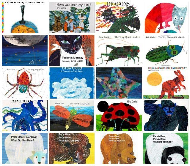 """Эрик Карл  Книги от автора """"Очень голодной гусеницы"""" на англ. в pdf"""