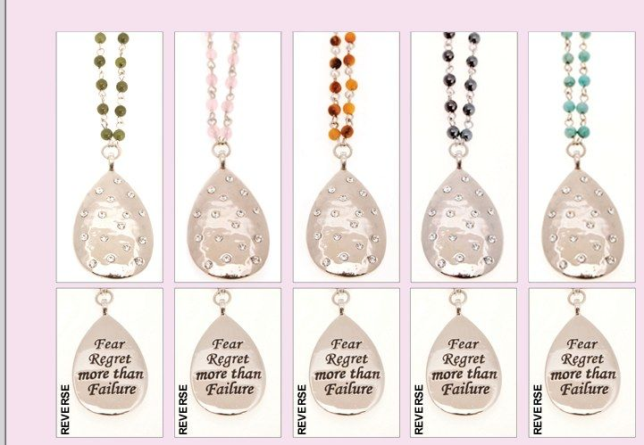 Beautiful jewelry to inspire and empower! Each piece has engraved quotes by Jen Groover.  Carry inspiration with you wherever you go!