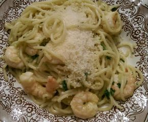 Spaghetti mit Garnelen - scharf