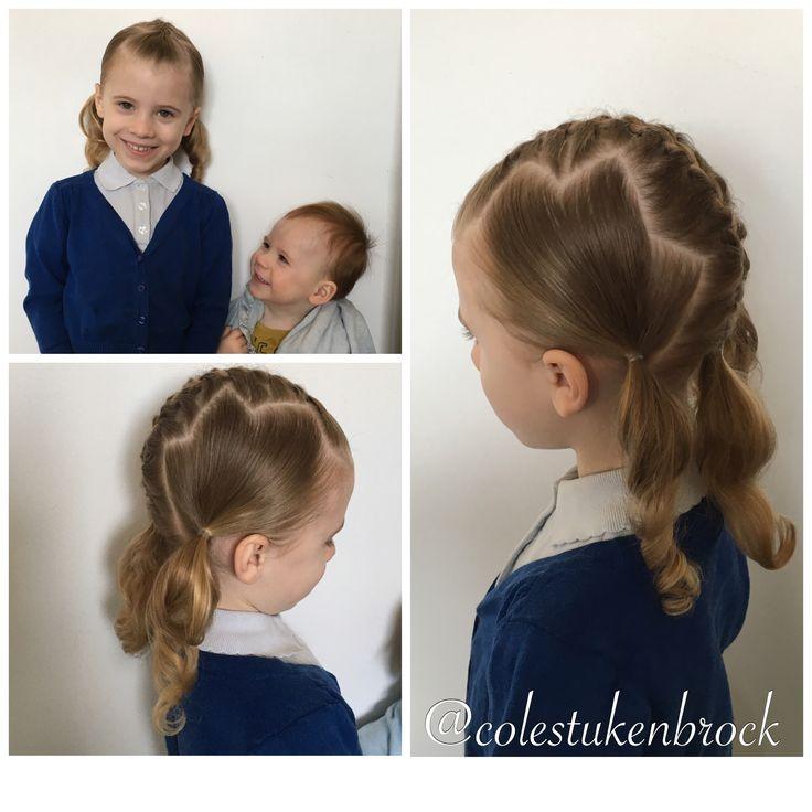 Sophiella's zigzag Middle Dutch braid low triple bunches effort rating 4/10