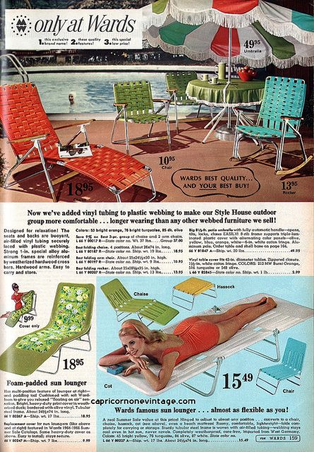Montgomery Ward 1967 Summer Sale Catalog. Style House Outdoor Furniture And  Sun Loungers.