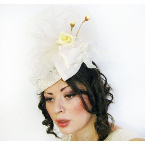 Lace Cocktail Hat #accessories #fashion #headpiece #fascinator #hat #headdress #hairstyle #wedding #bridal #crystal #glamour #chic #millinery #romantic #fantasy #derbyhats #hats #flowers #swarovski #weddingheadpiece #collection #fairy #weddings #look