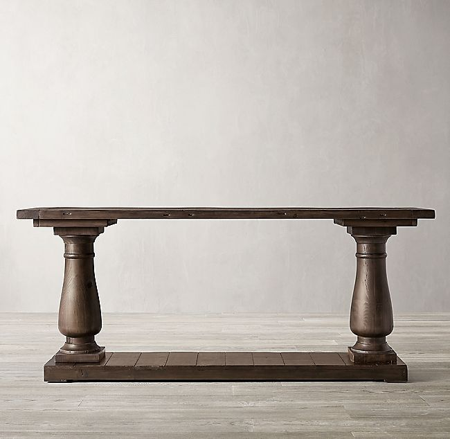 Balustrade Salvaged Wood Console Table Wood Console Table Wood