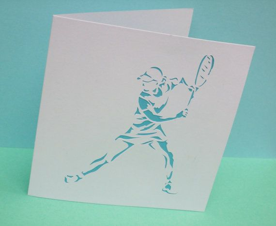 Tennis Card - Paper Cut Card - Hand Cut - Paper Handmade Greeting Card - Blank Card - Personalised Card - Sport Card - Wimbledon - Etsy UK