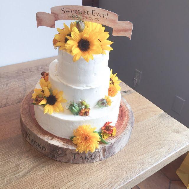Sunflower wedding cake ヒマワリウエディングケーキ