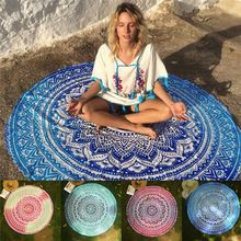 Round Yoga Blankets Polyester Lotus Flowers Mat Breathable Mandala Wall Hanging Decor Art Picnic Blanket Retro Beach Towel //Price: $US $9.79 & FREE Shipping //