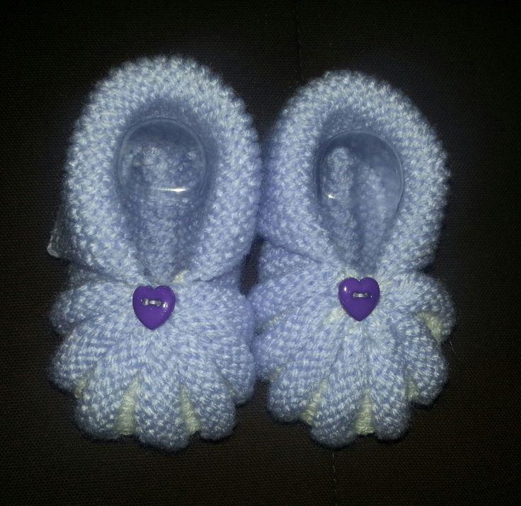 chausson bébé citrouille : Mode Bébé par les-creations-de-mami