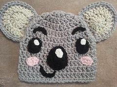 Ravelry: Tolee the Koala Bear from Ni Hoa, Kai-Lan Character Hat Crochet Pattern pattern by Niki Wyre
