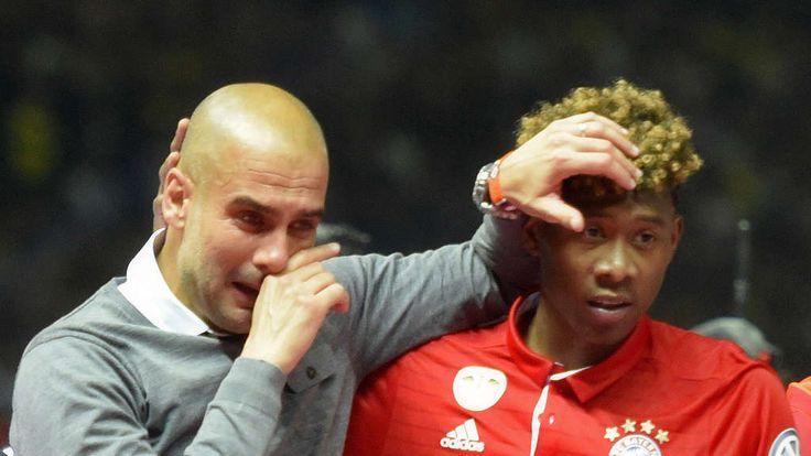 Pep Guardiola verabschiedete sich emotional vom FC Bayern und David Alaba.