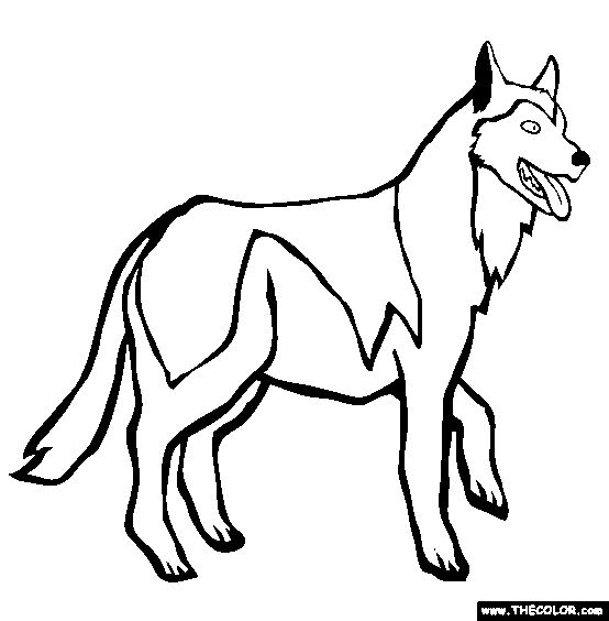 online puppy coloring pages   Siberian Husky Coloring Page   Free Siberian Husky Online ...