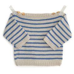 Marinière bébé Augustin - modèle à tricoter - Tutoriels de tricot chez Makerist
