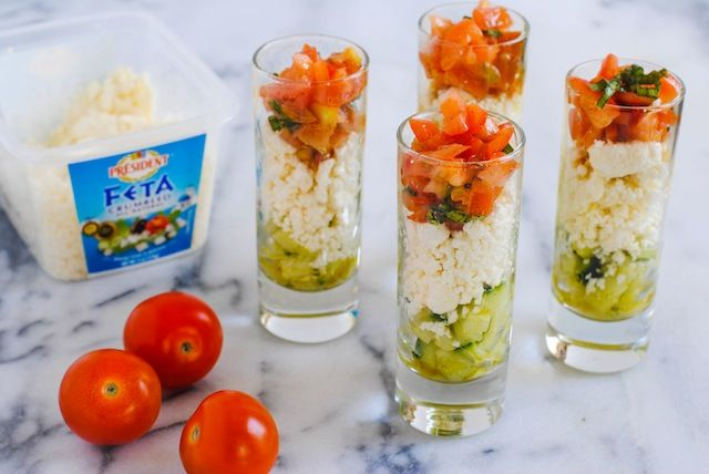 Feta Salad Shooters - Foxes Love Lemons