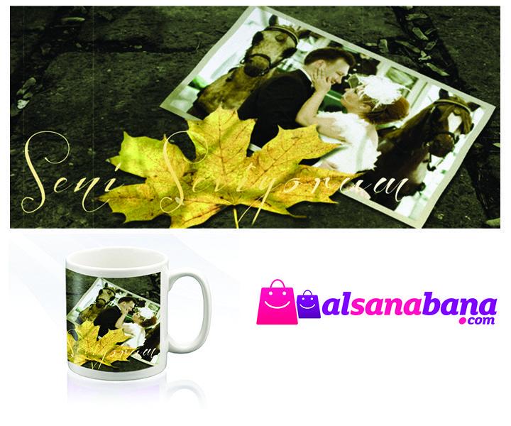 ''SONBAHAR'' KUPA BARDAK Kişiye özel fotoğraf baskılı, kansorejen madde içermeyen, beyaz kupa bardak.