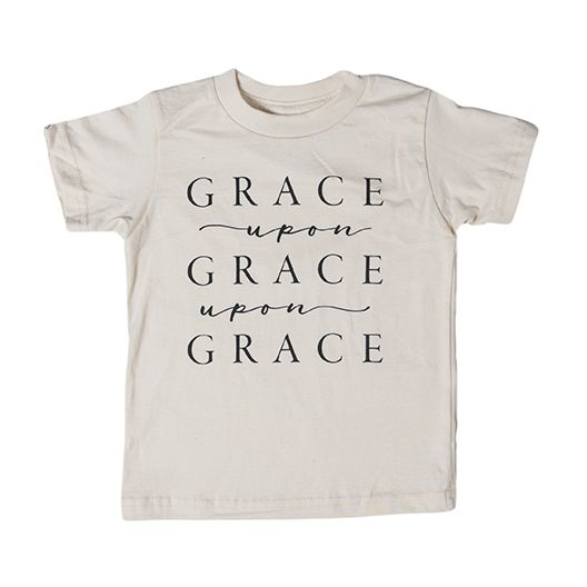 "Image of ""GRACE UPON GRACE"" Organic Tee"