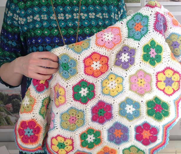 Sweet African flower baby blanket