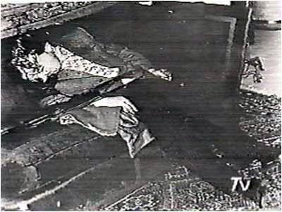 Cuerpo sin vida del Presidente Salvador Allende.