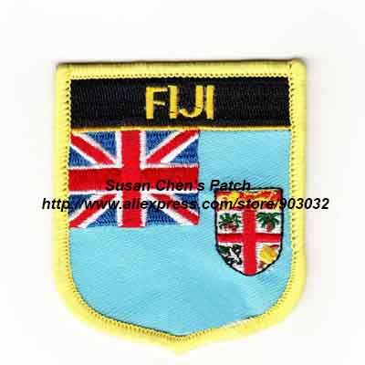Cheap national flag patches, Buy Quality embroidered flag patch directly from China flag patch Suppliers: Fiji Shield Shape Flag patches embroidered flag patches national flag patches Free Shipping