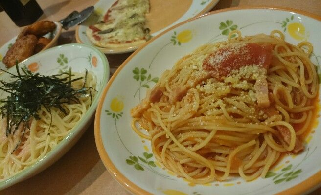 パスタとpizzaとチキン