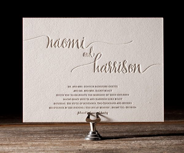 Letterpress Wedding Invitations | Colette Design | Bella Figura Letterpress