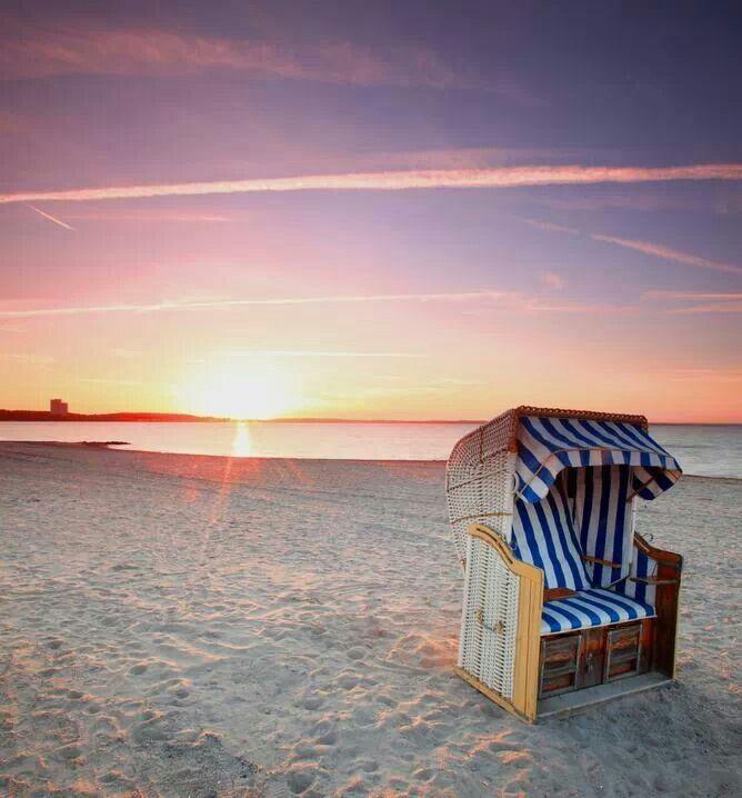 Strandkorb an der Ostsee