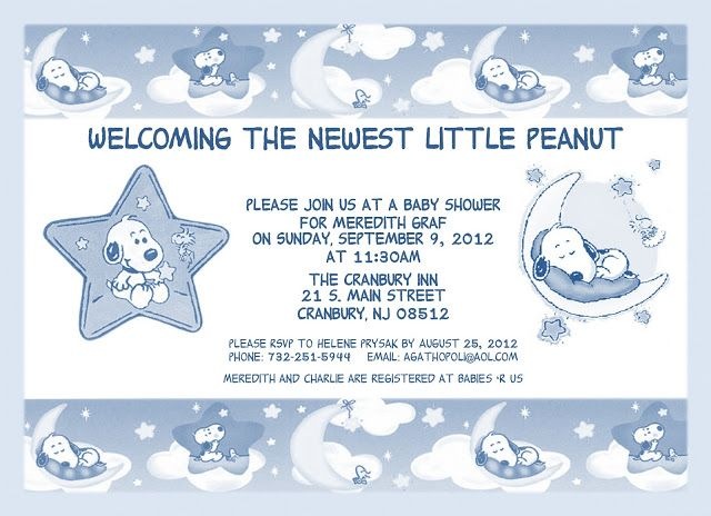 17 best ideas about snoopy baby showers on pinterest | snoopy, Baby shower invitations