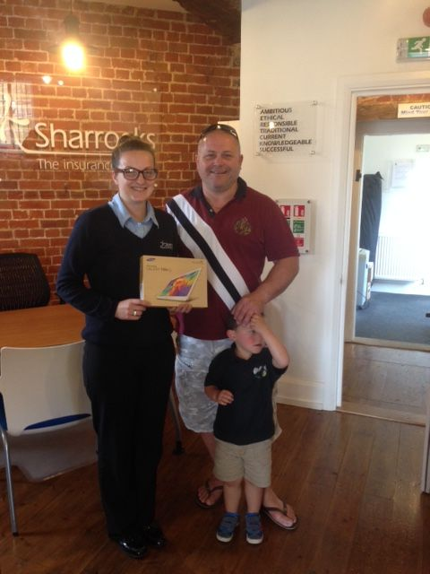 Paul Clifford winner of our Customer Service Survey Draw on 05/06/2015