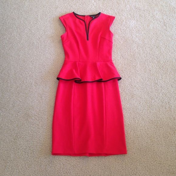 Red Peplum Dress I LOVE this dress! Only worn twice. In great condition. Dresses