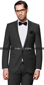 a pablo cassini perfume puro traje de hombre 7 teilig gris fumar boda negocios