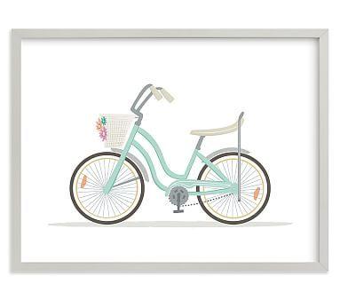Banana Seat Bike Wall Art by Minted(R), Gray, 14x11