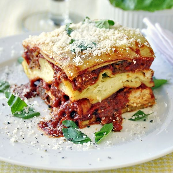 Chicken Chorizo Lasagna - one of our family's favorite comfort food meals featuring a delicious combination of chicken and chorizo sausage layered with a fresh and flavorful homemade sauce. Our homemade pasta recipe is also included.