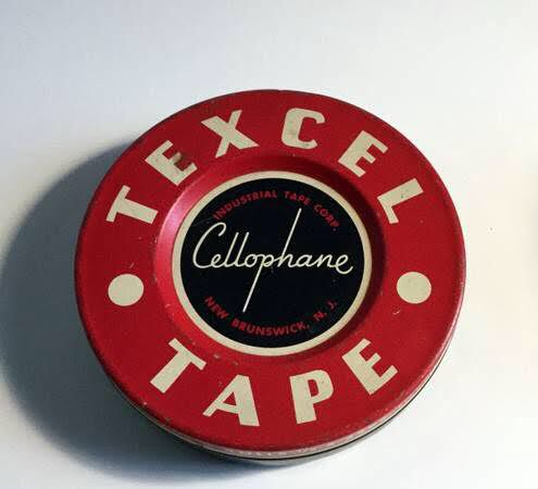 Vintage Texcel Cellophane Tape Tin ~ Available for purchase at www.CuriousDiversions.com