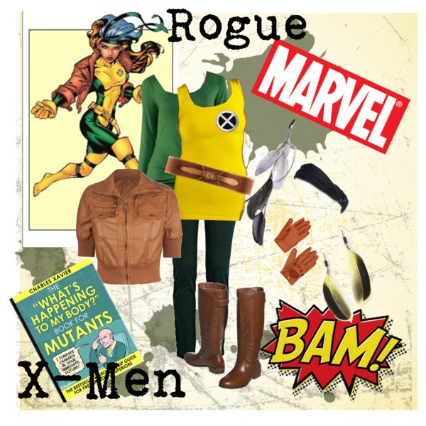 Rogue DIY Halloween costume :D #polyvore