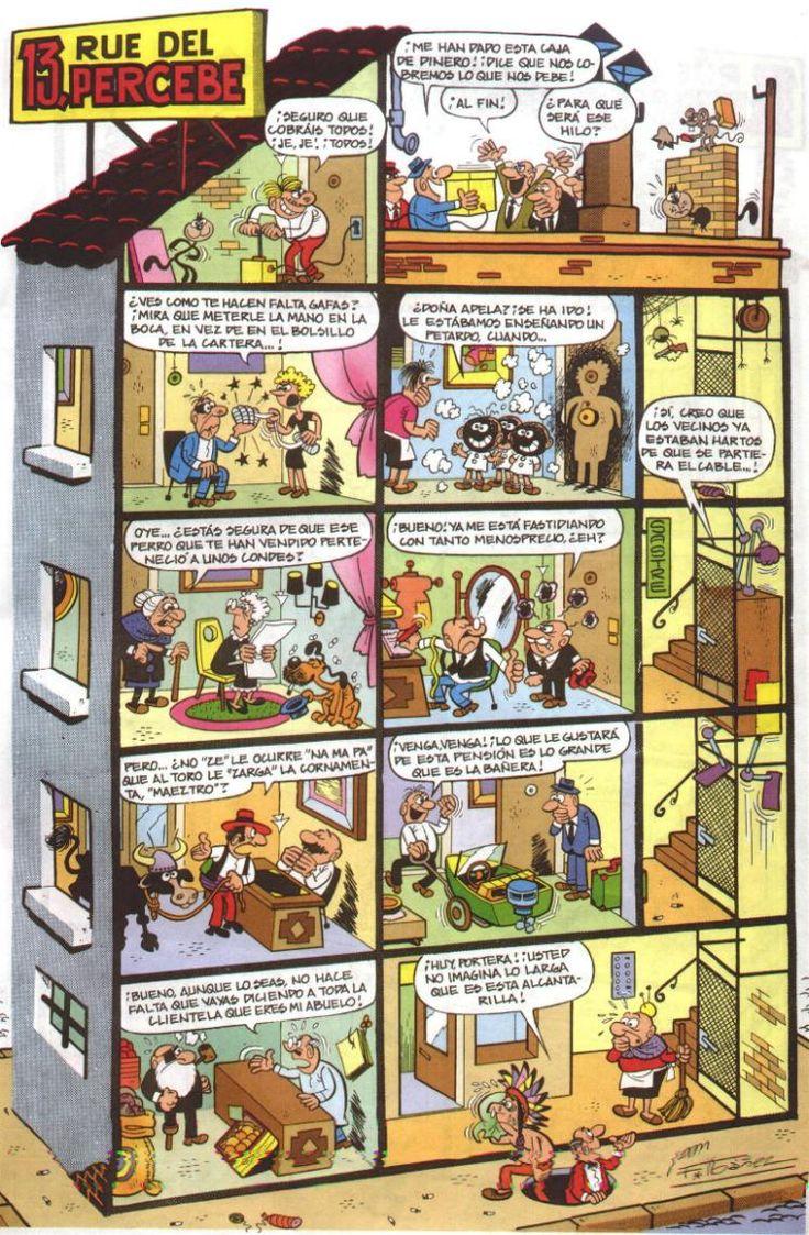 13, Rue del Percebe es una macroviñeta humorística de un edificio que ocupa una página y que está dividida a su vez en viñetas no secuenciales con cada uno de los apartamentos que lo compone y la comunidad que en él habita. Creada por Francisco Ibáñez en 1961.