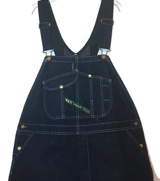 Key Imperial Denim Carpenter Overalls 44 Dark Wash Aristocrat Rockabilly Jeans   | eBay